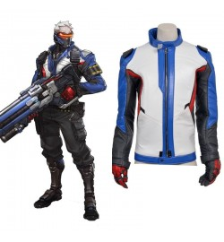 Overwatch Soldier 76 Coat Jacket Cosplay Costumes