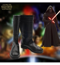 Star Wars The Force Awakens Kylo Ren Ben Solo Cosplay Shoes Sith Cosplay Boots Black