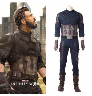 Avengers Infinity War Captain America Cosplay Costume Deluxe Outfit