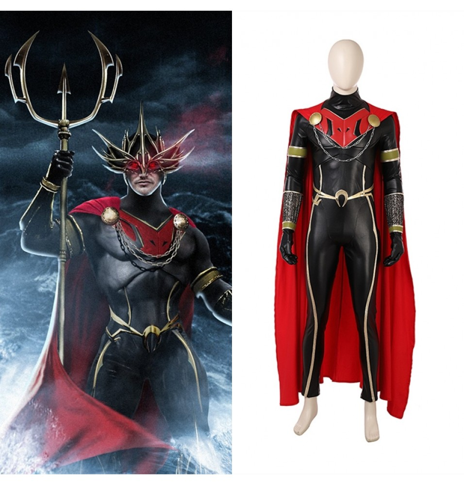 2018 Aquaman Orm Cosplay Costume Ocean Master Deluxe Outfit
