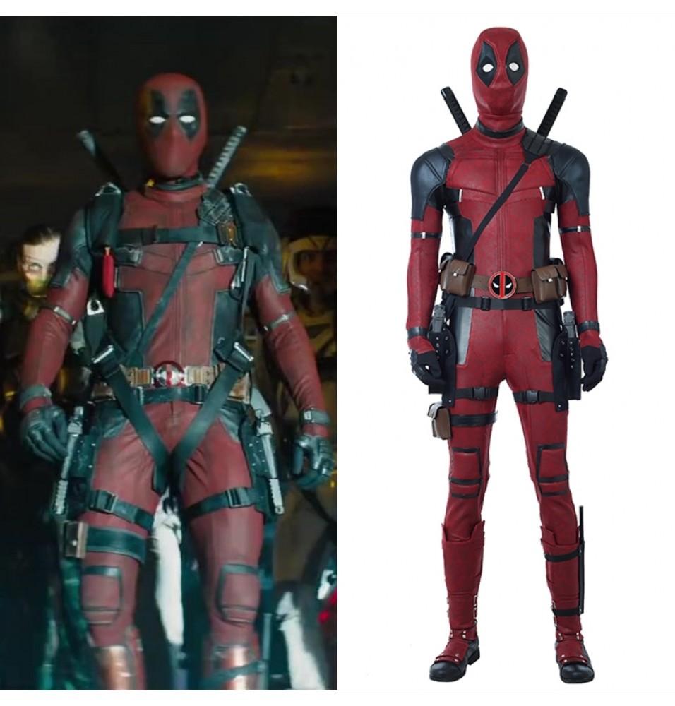 2018 Deadpool 2 Costume Wade Wilson Cosplay Costume - Deluxe Version