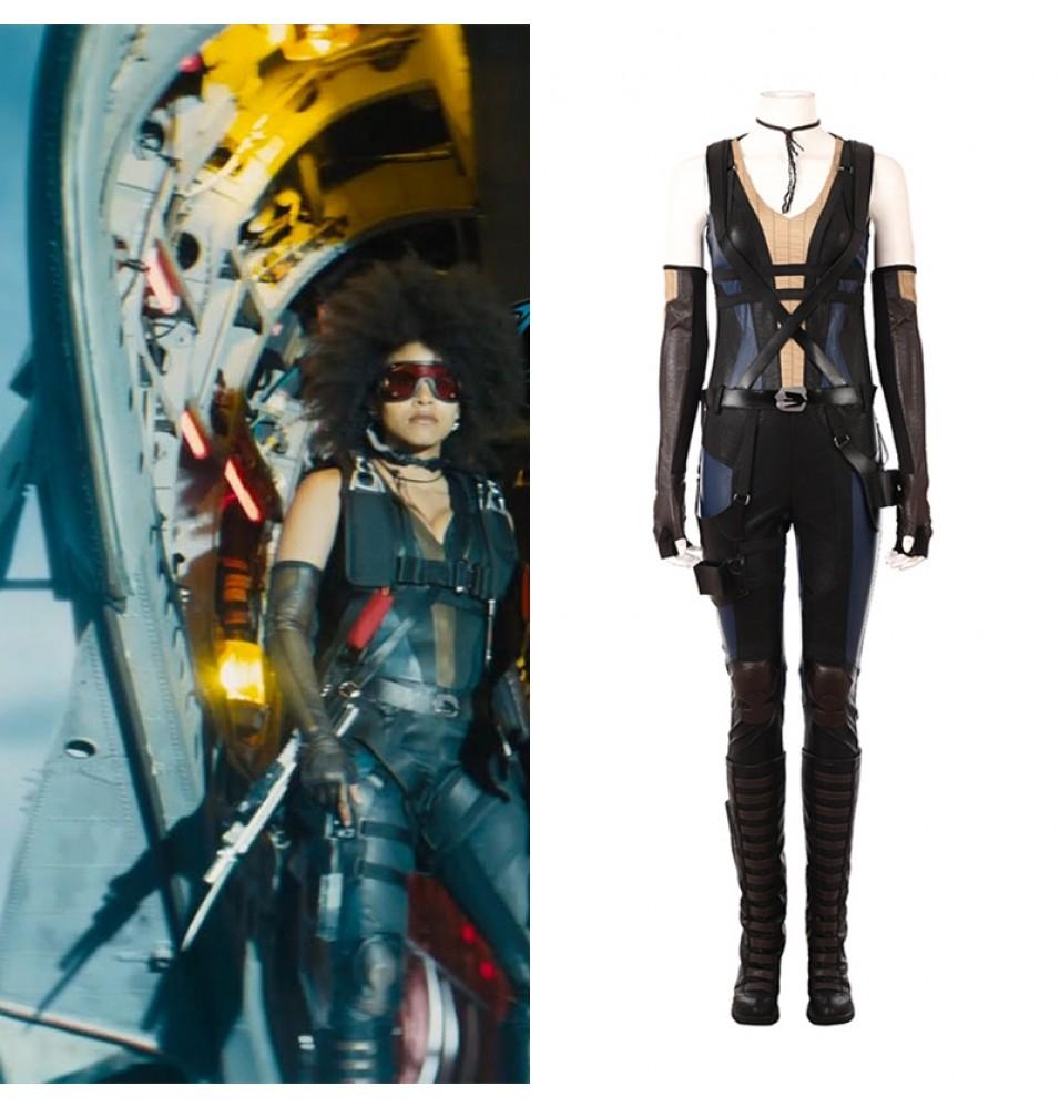 2018 Deadpool 2 Domino Costume Neena Thurman Cosplay Costume