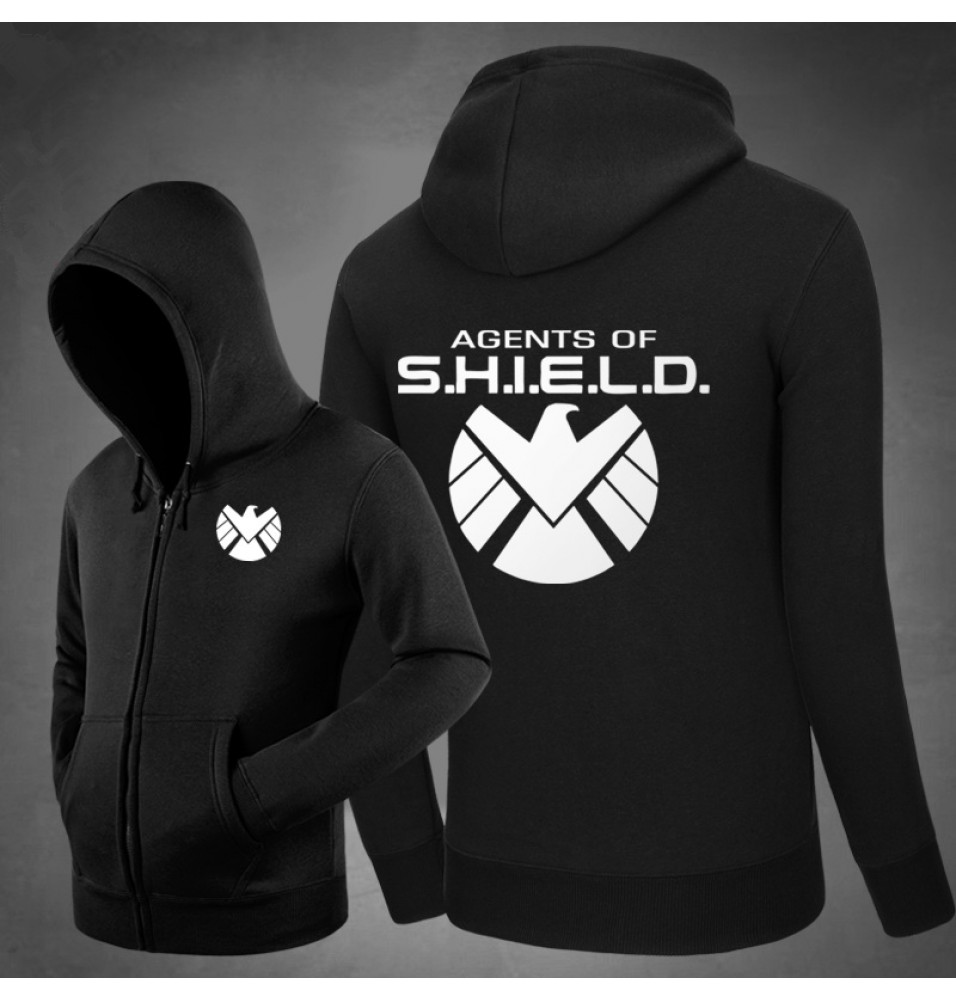 Agents of S.H.I.E.L.D.Logo Warm Zipper Hoodies