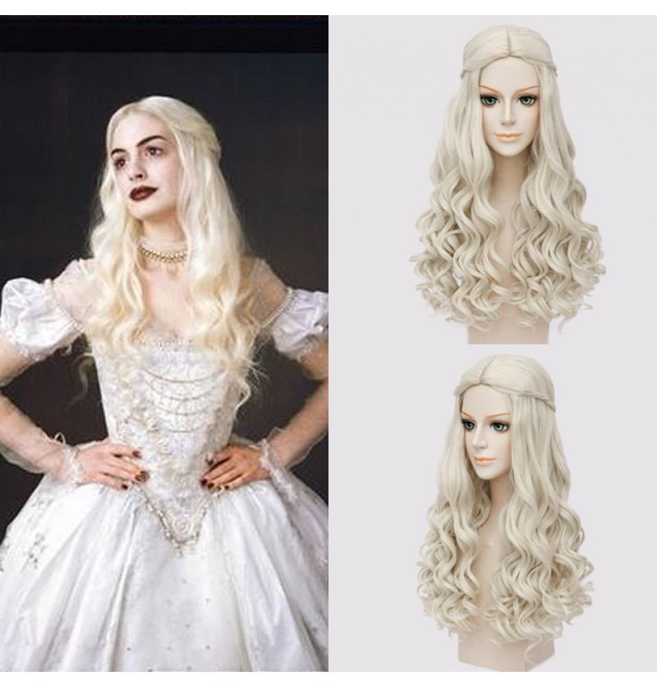 Alice in Wonderland 2 Alice Through the Looking Glass The White Queen Cosplay Wig