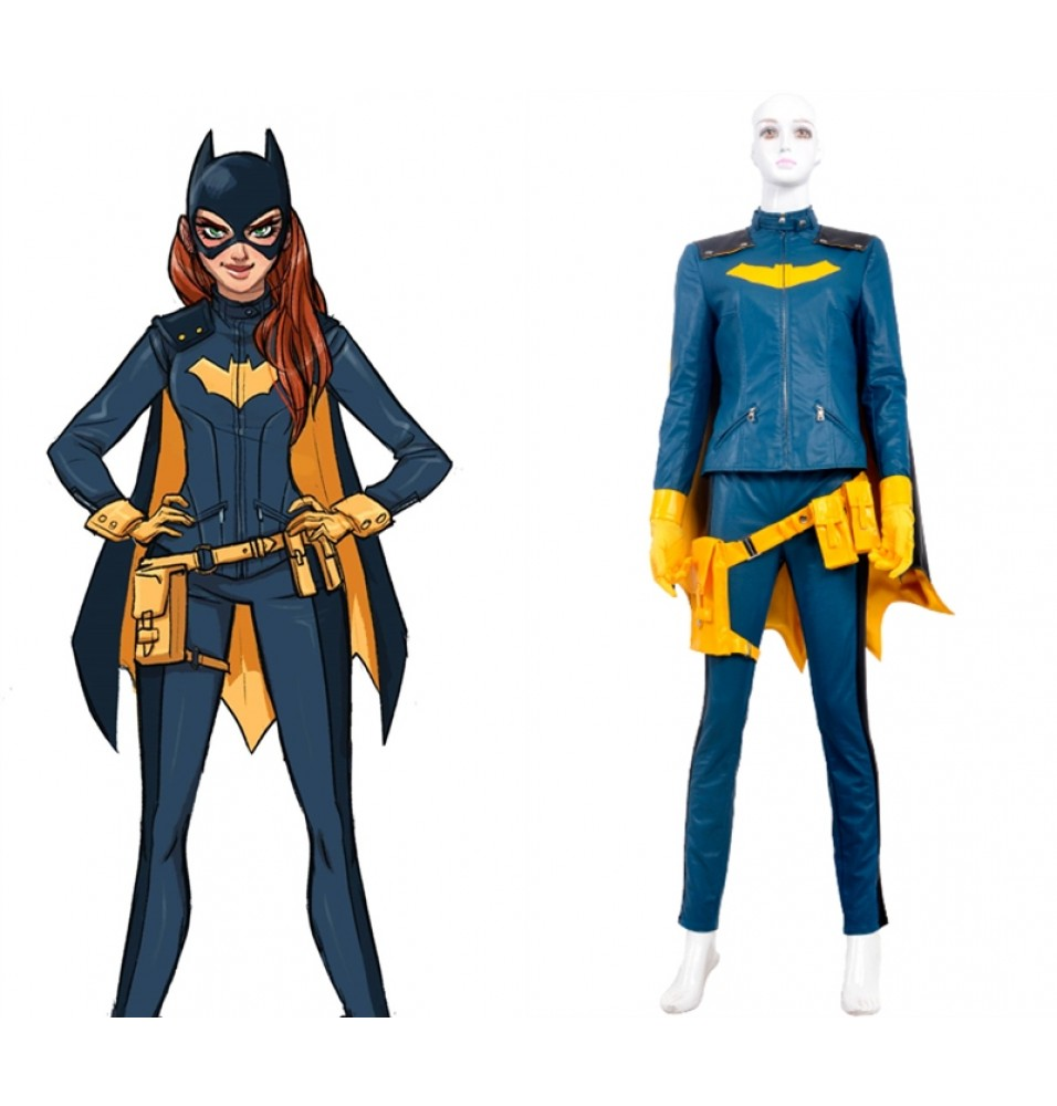 Arkham Knight Batgirl Cosplay Costume Blue Outfit