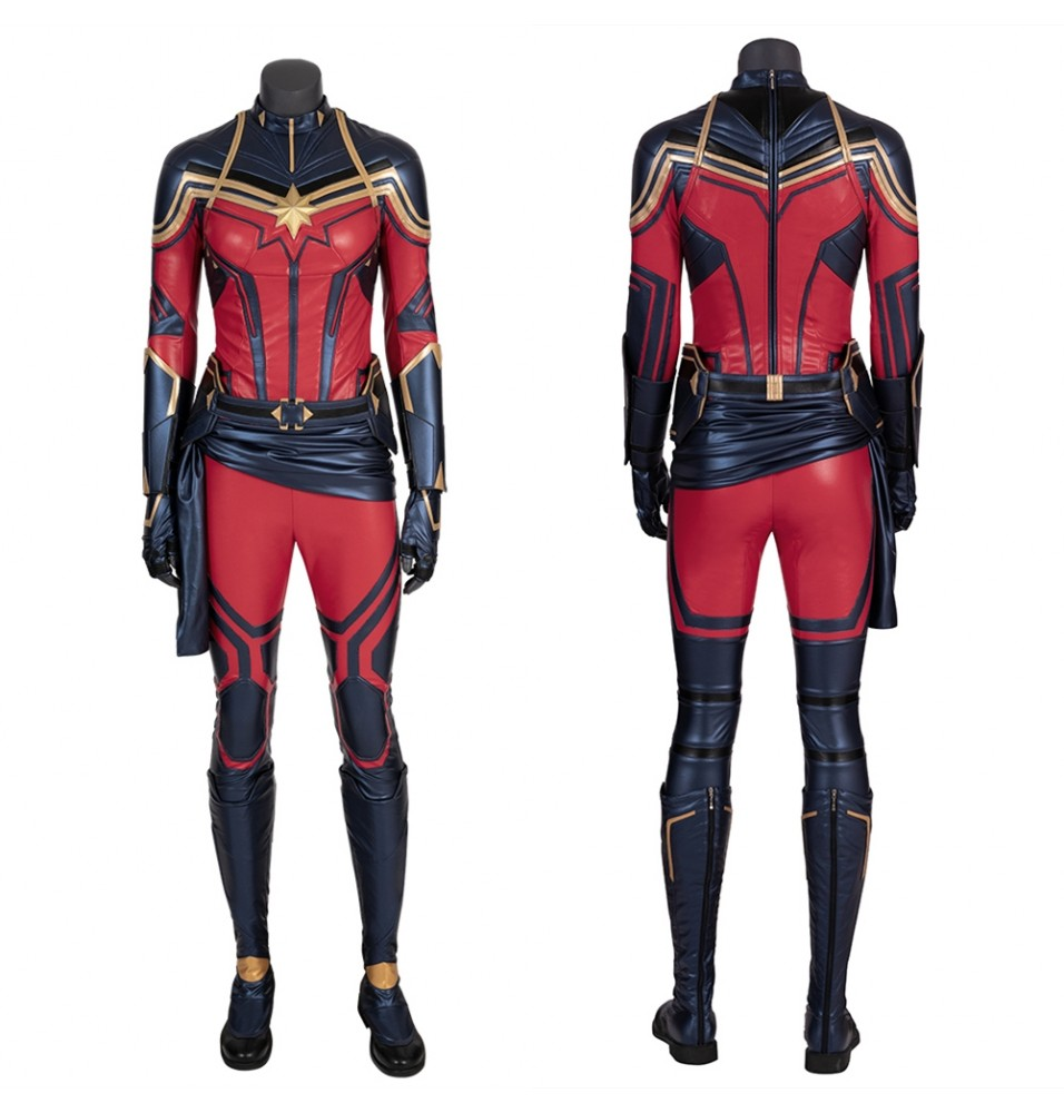 Avengers Endgame Captain Marvel Cosplay Costume