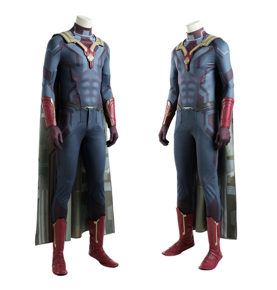 Avengers Infinity War Vision Cosplay Costume