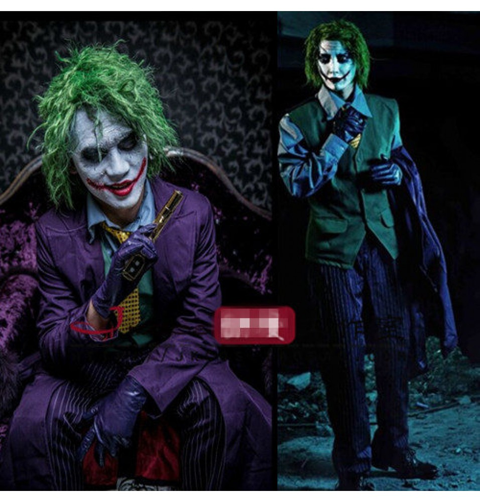 Batman The Dark Knight Joker Cosplay Costume - Deluxe Costume