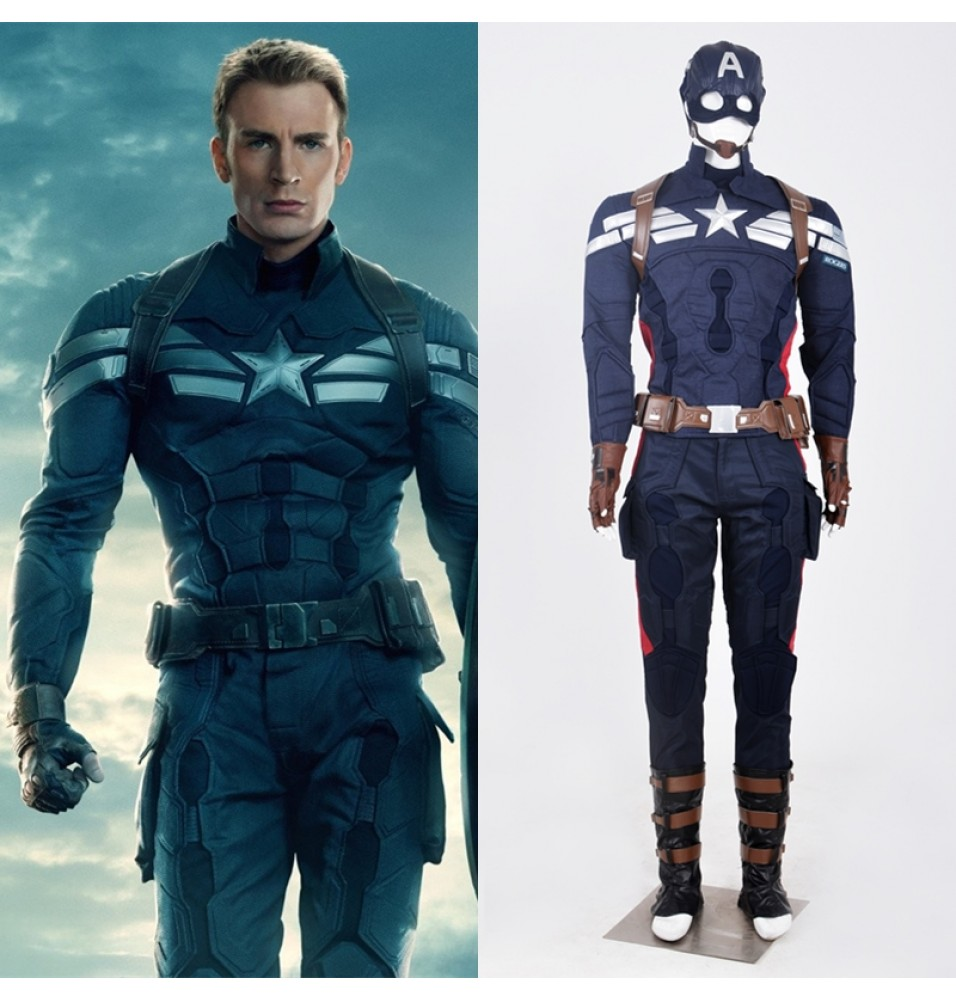 Captain America 2 Steve Rogers Cosplay Costume
