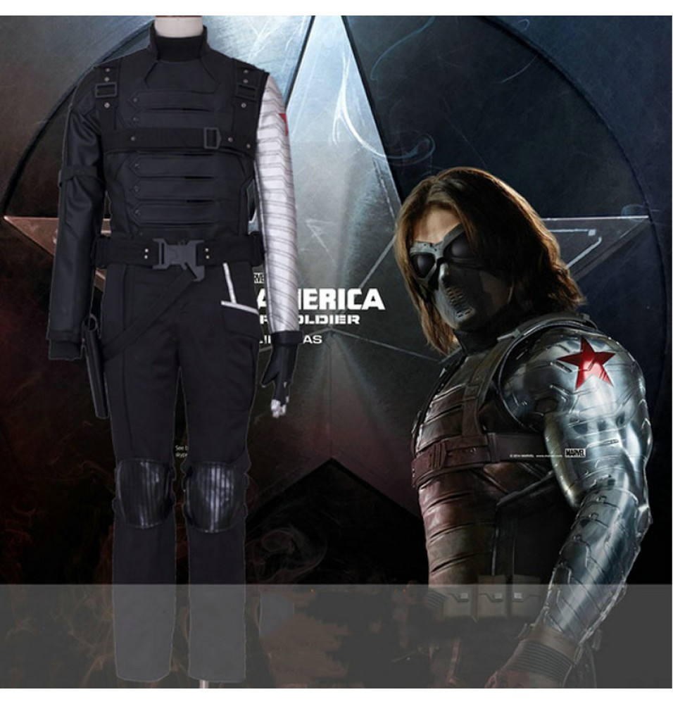 Captain America Winter Soldier Bucky Barnes Cosplay Costumes