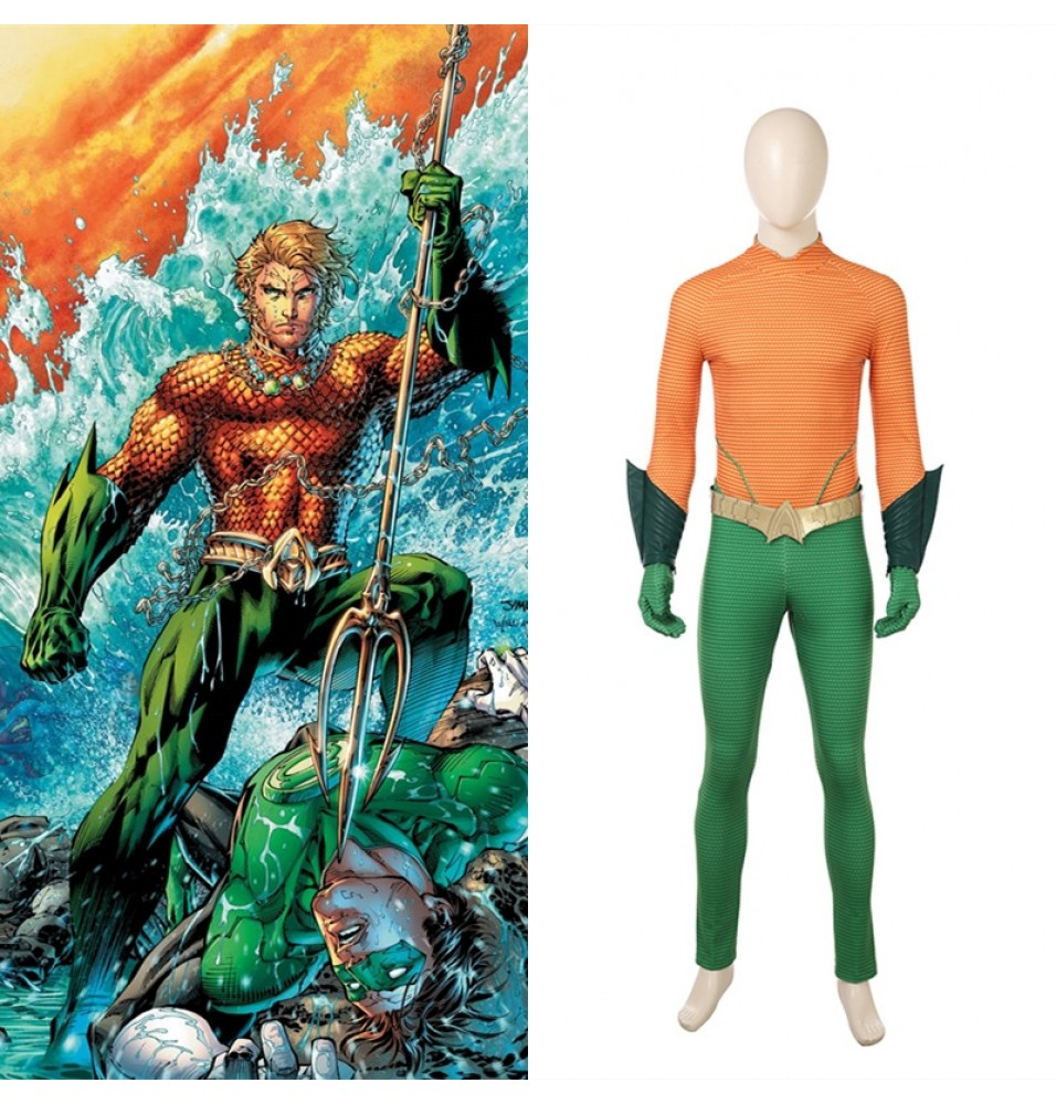DC Aquaman Arthur Curry Cosplay Costume Jumpsuit