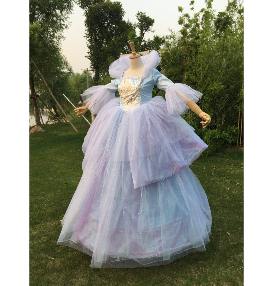 Disney Cinderella Fairy Godmother Dresses Cosplay Costume