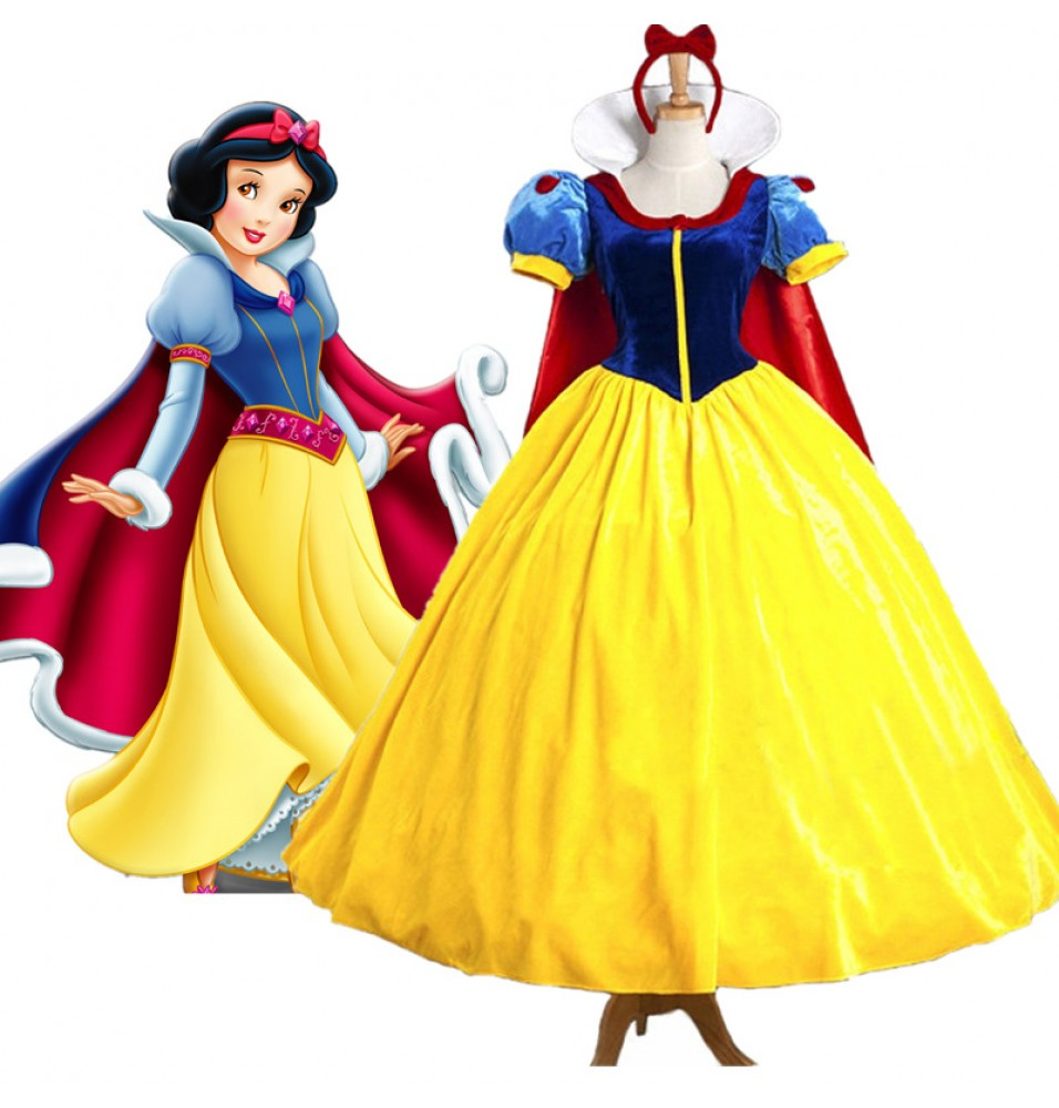 Disney Movie Snow White Princess Dress Cosplay Costumes