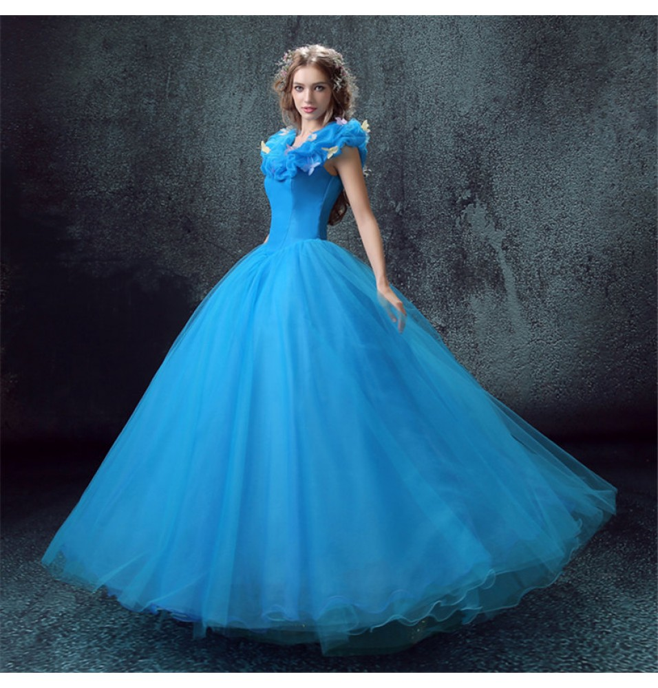 bda58ccadf66 -30%Off Disney Live Action Film Cinderella Wedding Blue Dress Cosplay  Costumes - Deluxe Version ...