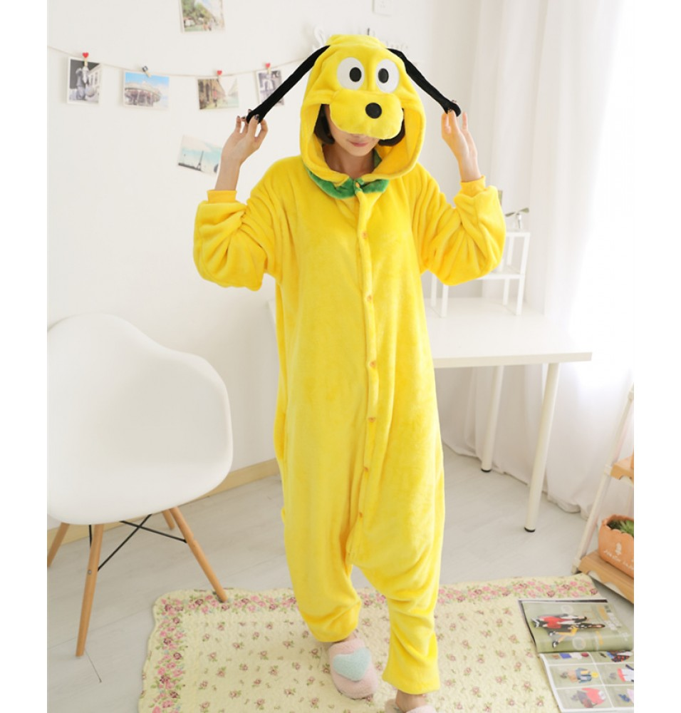 Goofy Dog Onesies Pajamas Unisex Flannel Kigurumi Onesies Winter Animal Pajamas For Adults