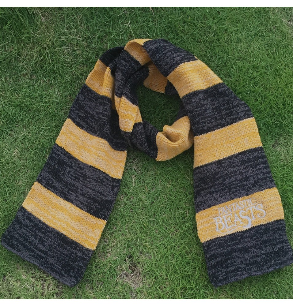Fantastic Beasts and Where to Find Them Newt Scamander Jacquard Cosplay Scarf