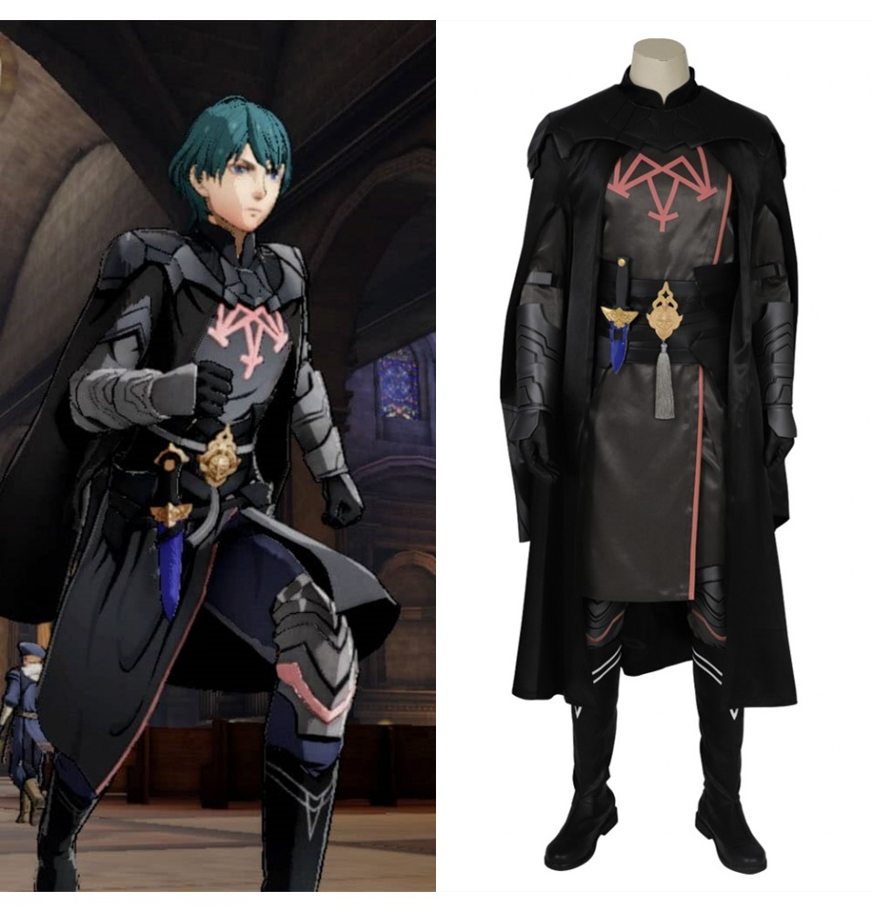 Fire Emblem Three Houses Male Byleth Cosplay Costume Deluxe Outfit
