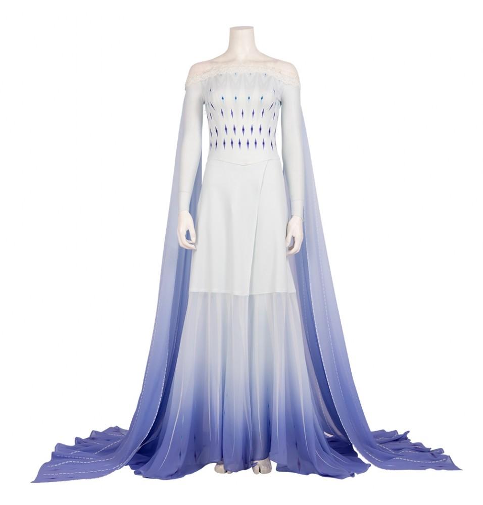 Frozen 2 Elsa Cosplay Costume Fancy Dress