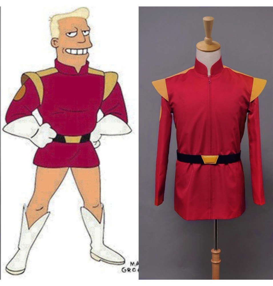 Futurama Captain Zapp Brannigan Red Uniform Cosplay Costume