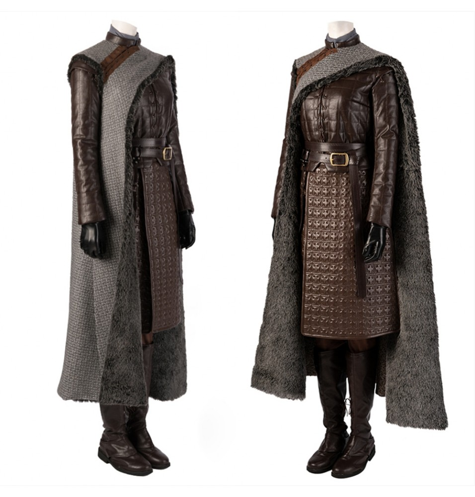 Game of Thrones 8 Arya Stark Cosplay Costume Deluxe Version