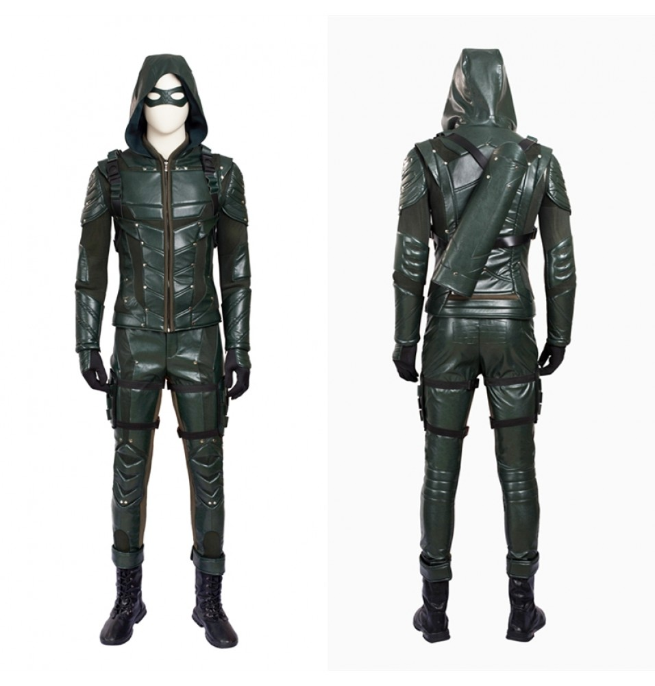 Green Arrow Season 5 Oliver Queen Cosplay Costume