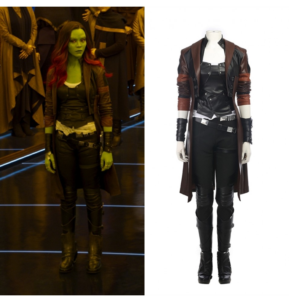 Guardians of The Galaxy 2 Gamora Cosplay Costume - Deluxe Version