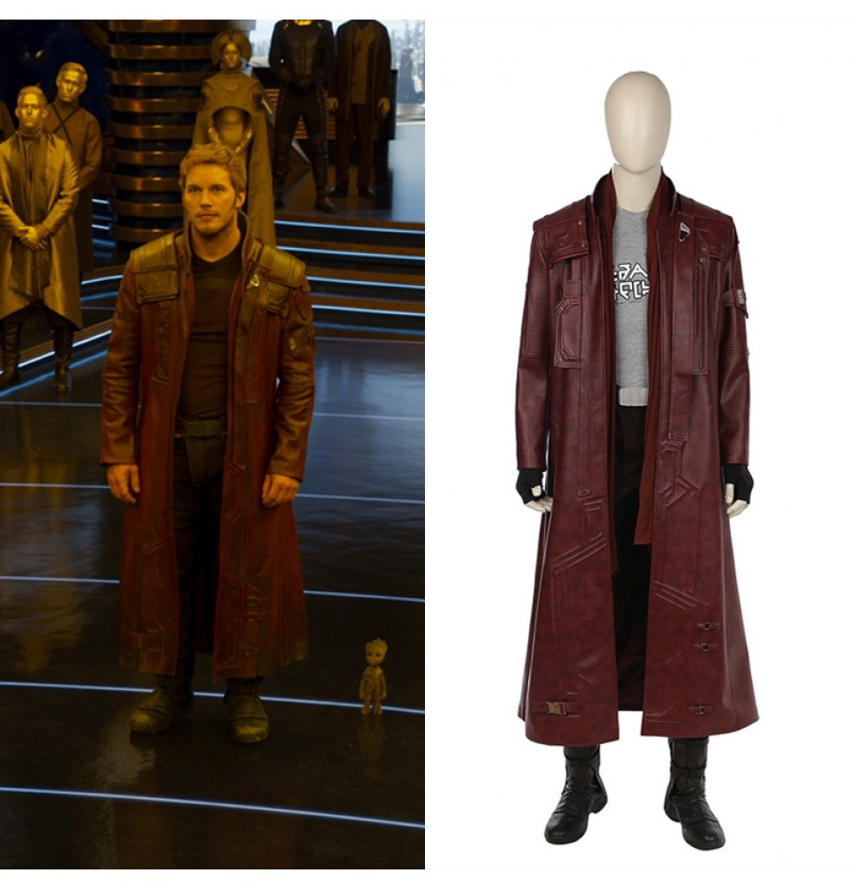 Guardians Of The Galaxy 2 Star Lord Cosplay Costume Trench Coat Version