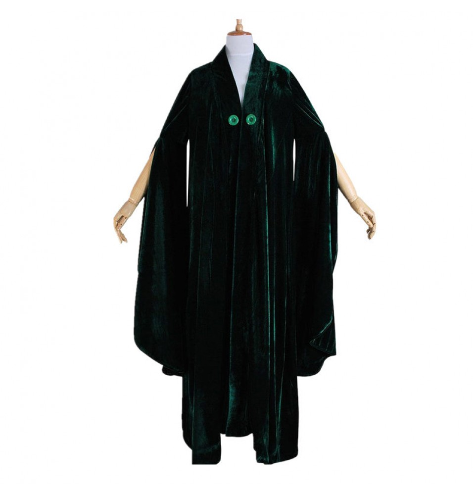 Harry Potter Minerva McGonagall Cloak Dress Cosplay Costume