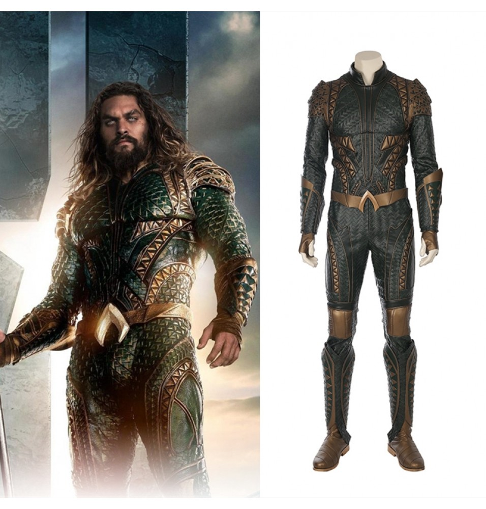 Justice League Aquaman Cosplay Costume Orin Arthur Curry Deluxe Costume