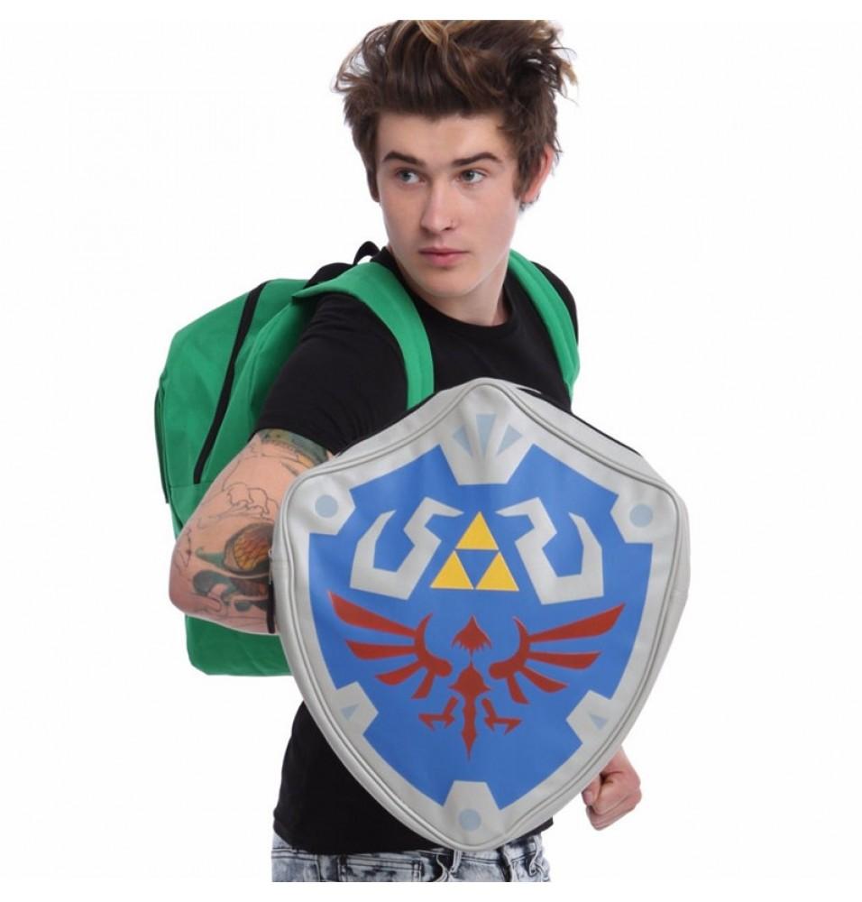 Legend of Zelda Links Shield 3D Cosplay Backpack School Bag
