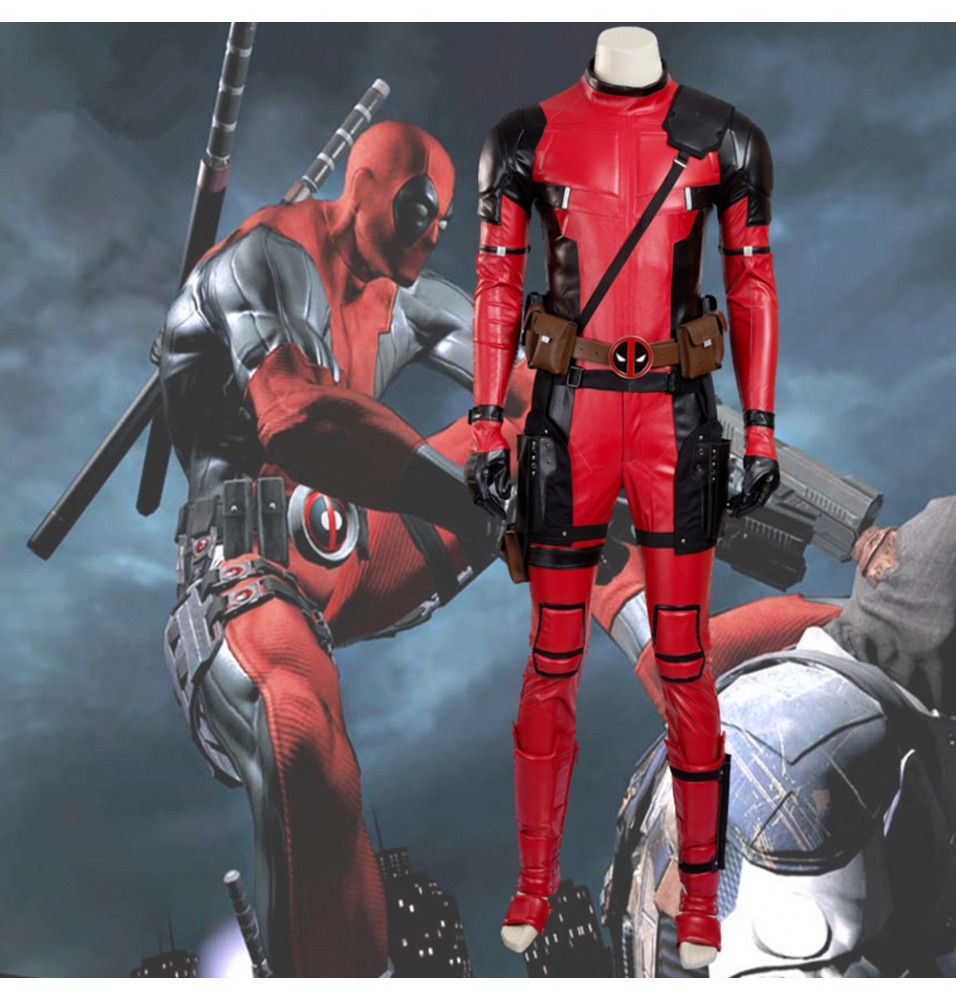 Marvel Deadpool Cosplay Wade Winston Wilson Costume