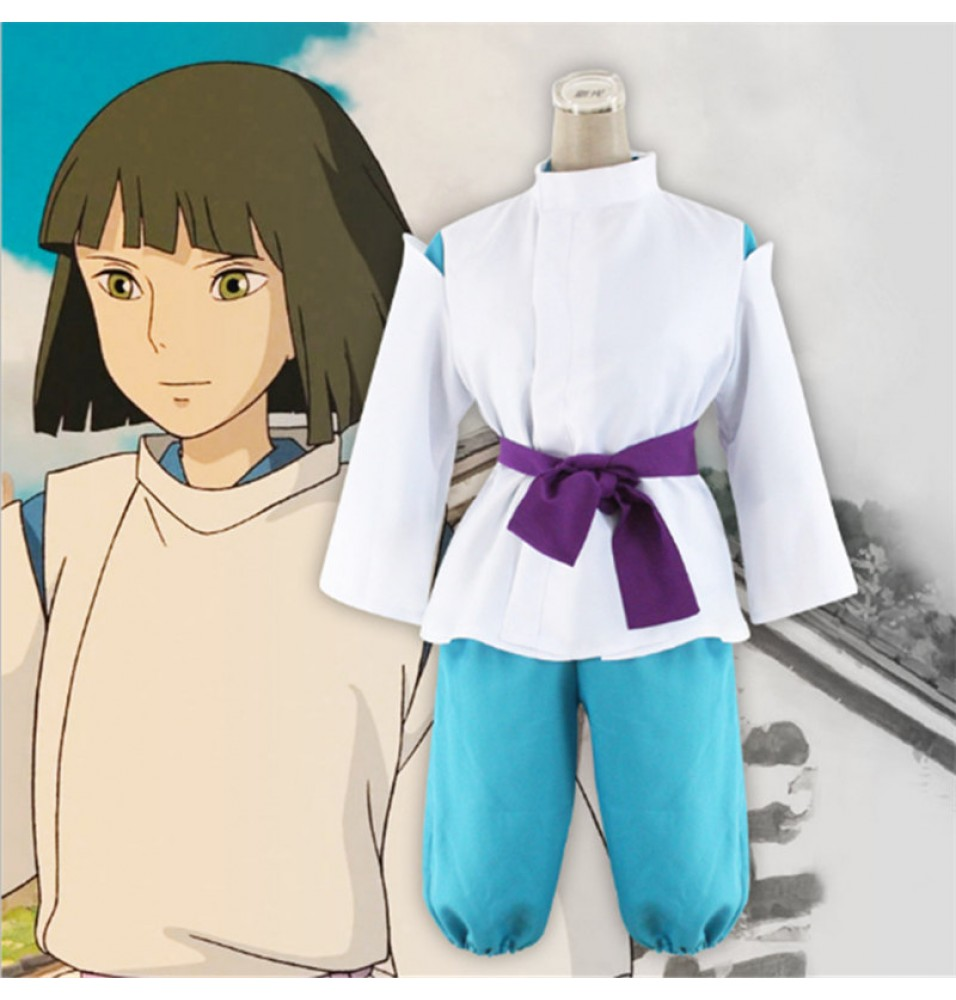 Miyazaki Hayao Spirited Away Cosplay Haku Nigihayami Kohakunushi Suit Costumes