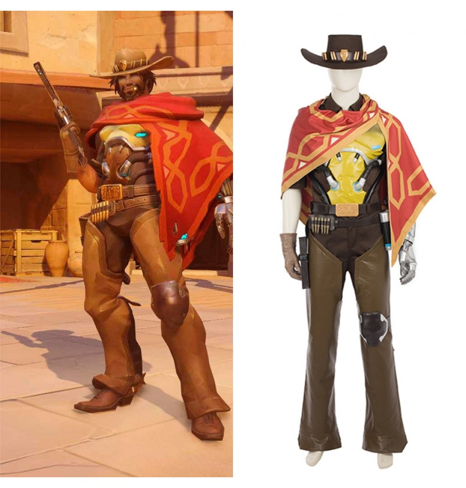 Overwatch Jesse McCree Cosplay Costume - Deluxe Version