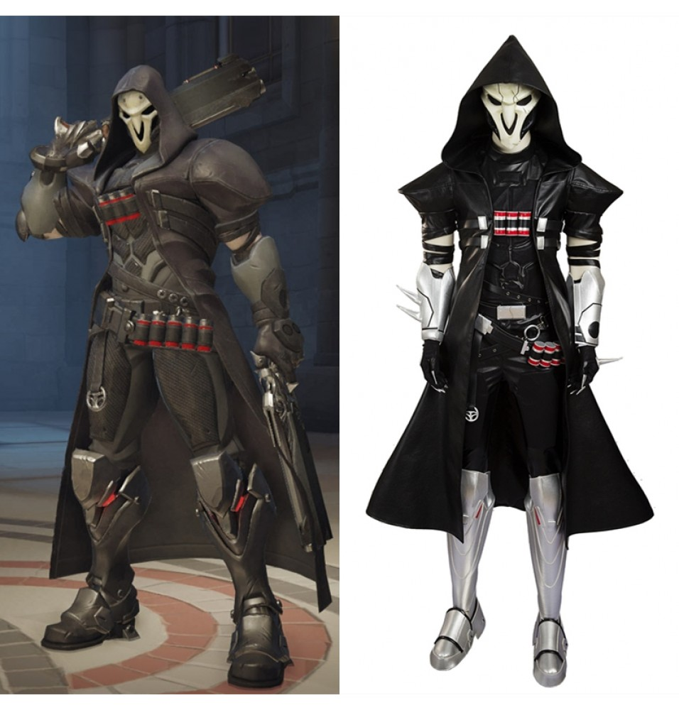 Overwatch Reaper Cosplay Costumes - Deluxe Version
