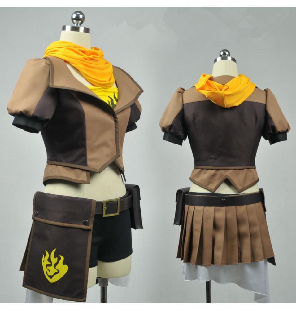 RWBY Yellow Trailer Yang Xiao Long Cosplay Costume