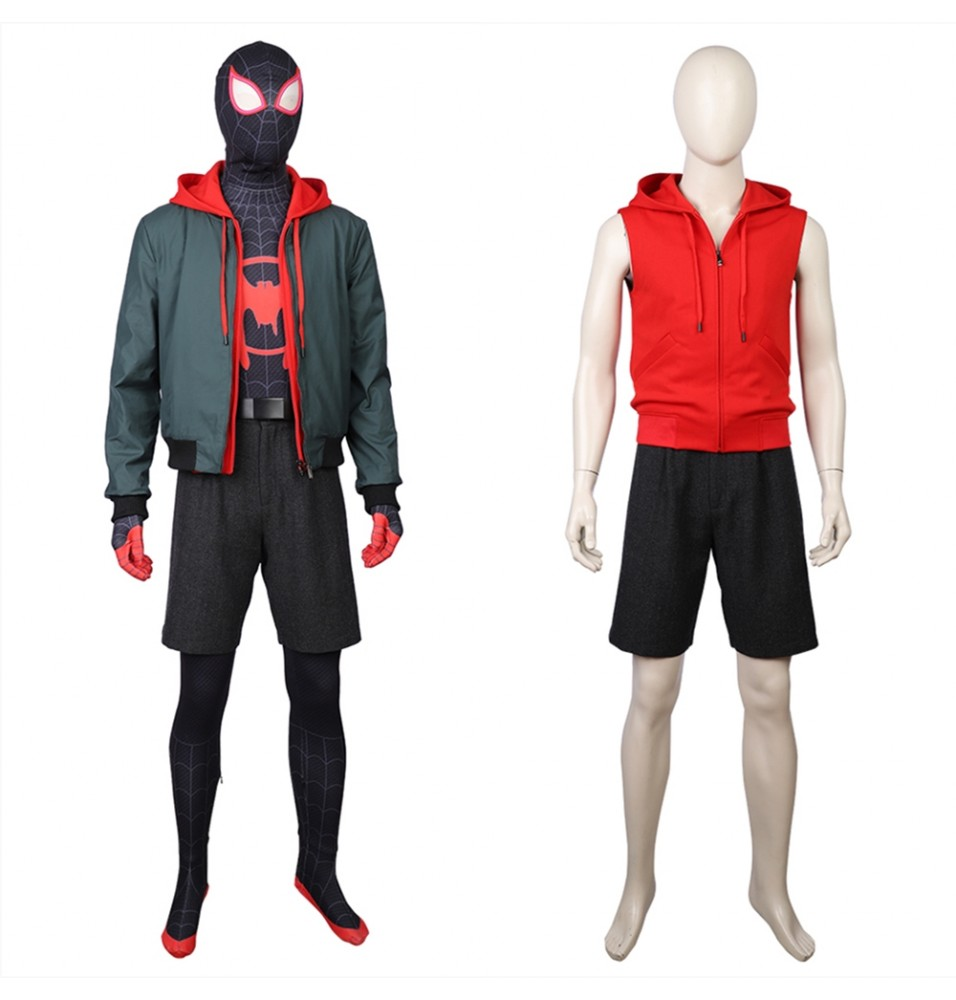 Spider-Man: Into the Spider-Verse Miles Morales Cosplay Costume Outfit