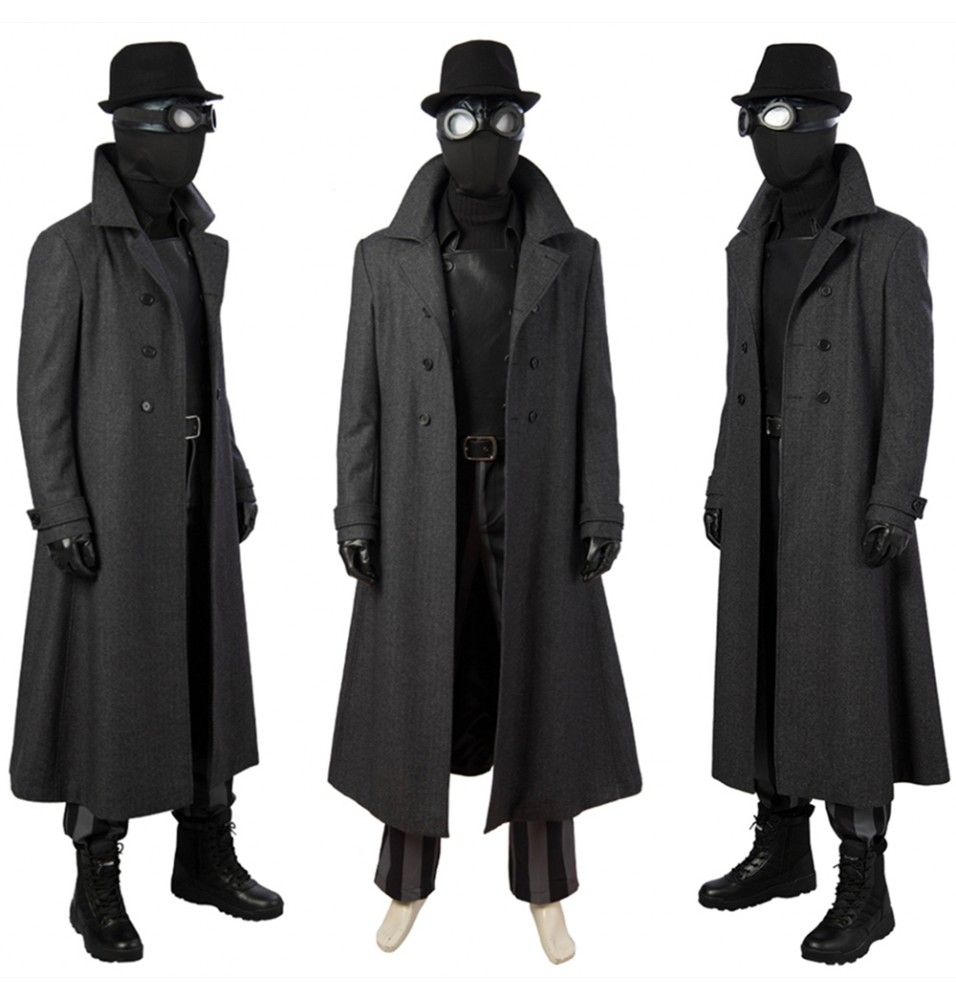 Spider-Man: Into the Spider-Verse Noir Cosplay Costume Outfit