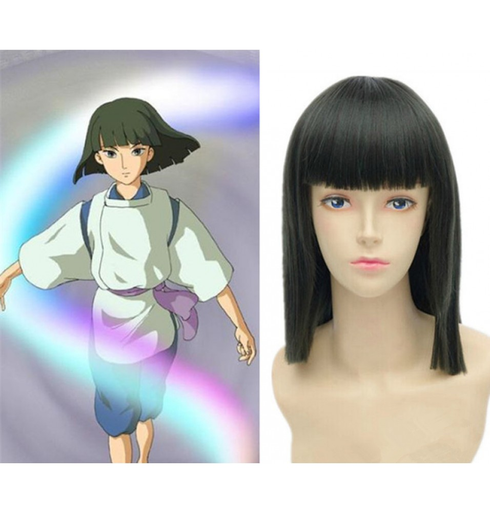 Spirited Away Haku Nigihayami Kohaku Green Short Straight Cosplay Wigs