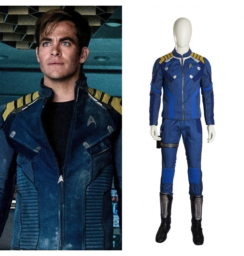 Star Trek Beyond Captain Kirk Cosplay Costume Deluxe Outfit
