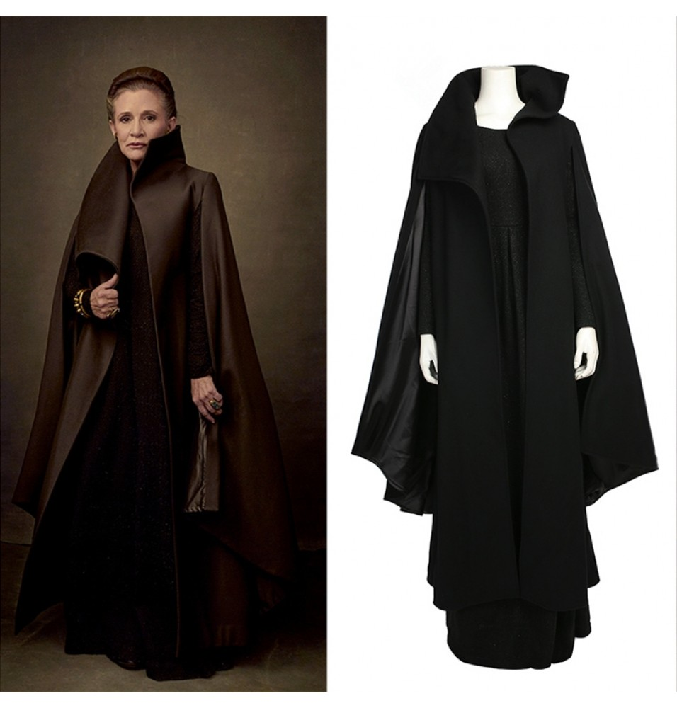 Star Wars 8 The Last Jedi Princess Leia Cosplay Costume