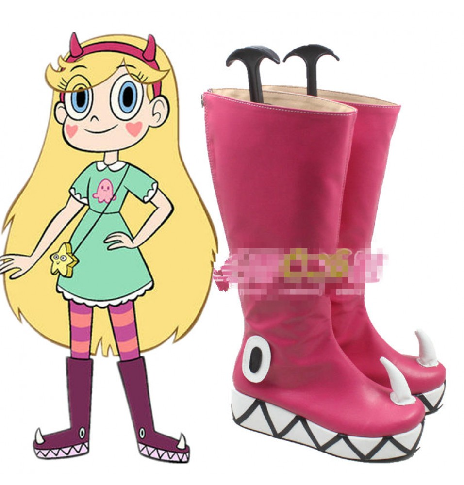 Star vs. the Forces of Evil Princess Star Butterfly Boots Cosplay Shoe