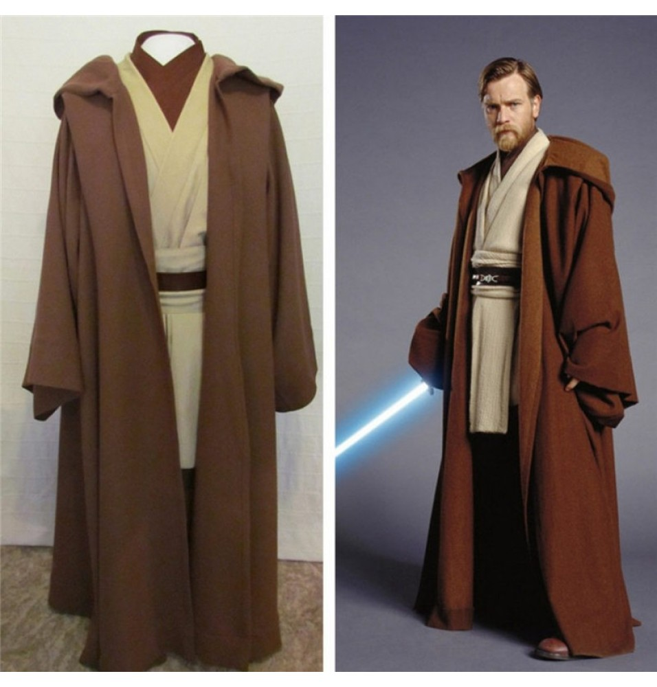 Star Wars Obi-Wan Jedi Master Original Costumes Cosplay - Deluxe Version