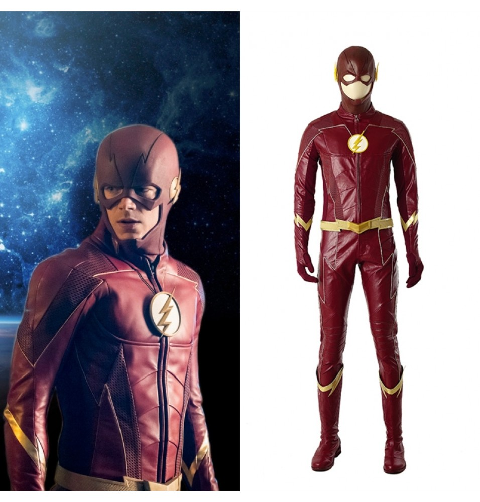 The Flash Season 4 Cosplay Costume Barry Allen Deluxe Outfit