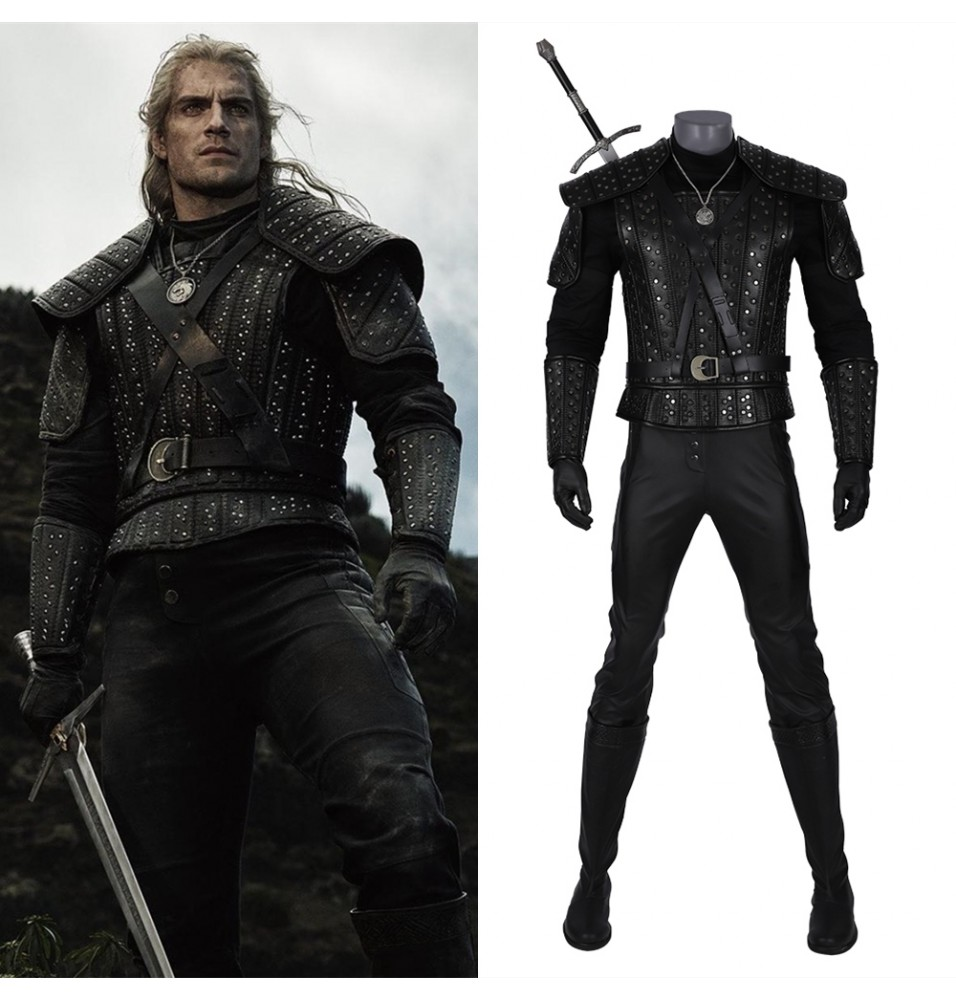 The Witcher Geralt of Rivia Geralt Cosplay Costume Deluxe Version