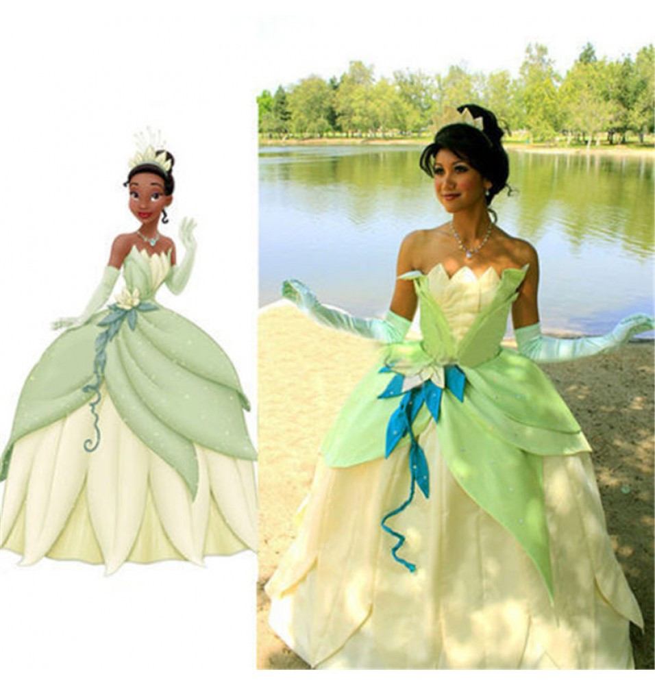 The Princess and the Frog Tiana Princess Dress Costume Party Cosplay