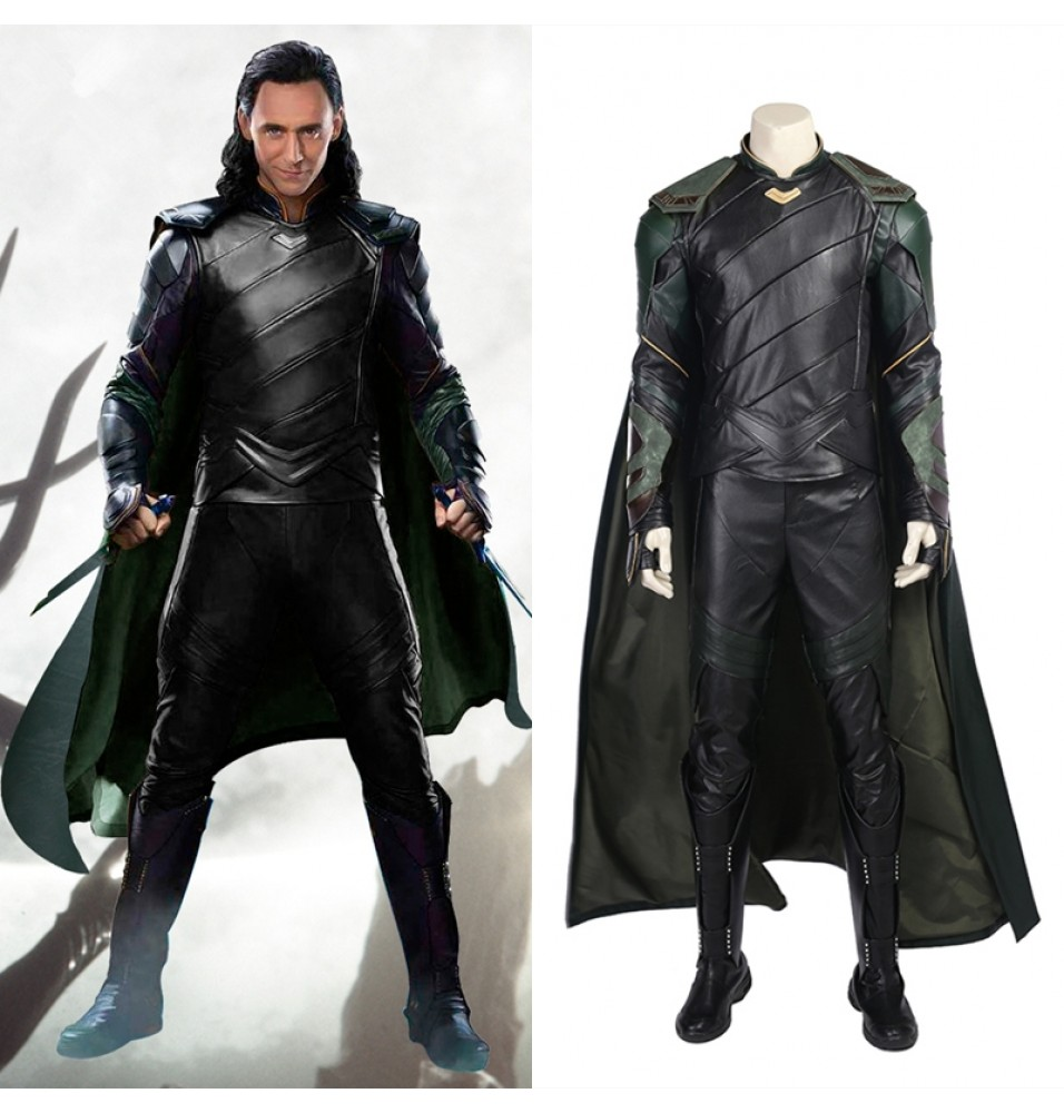 Thor Ragnarok Loki Cosplay Costume Deluxe Outfit