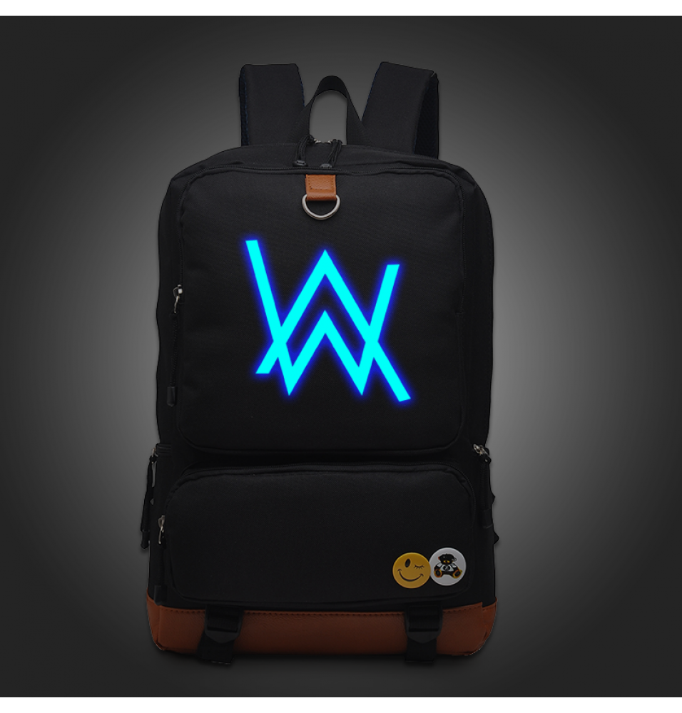 Timecosplay Alan Walker Faded Noctilucent Luminous Backpack Schoolbag