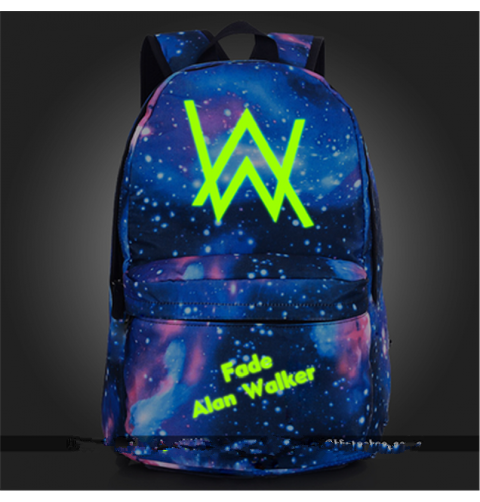 Timecosplay Alan walker Green Noctilucent Luminous backpack Schoolbag booksbag