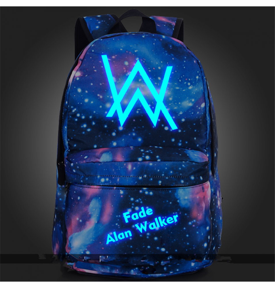 Timecosplay Alan walker Noctilucent Luminous backpack Schoolbag booksbag