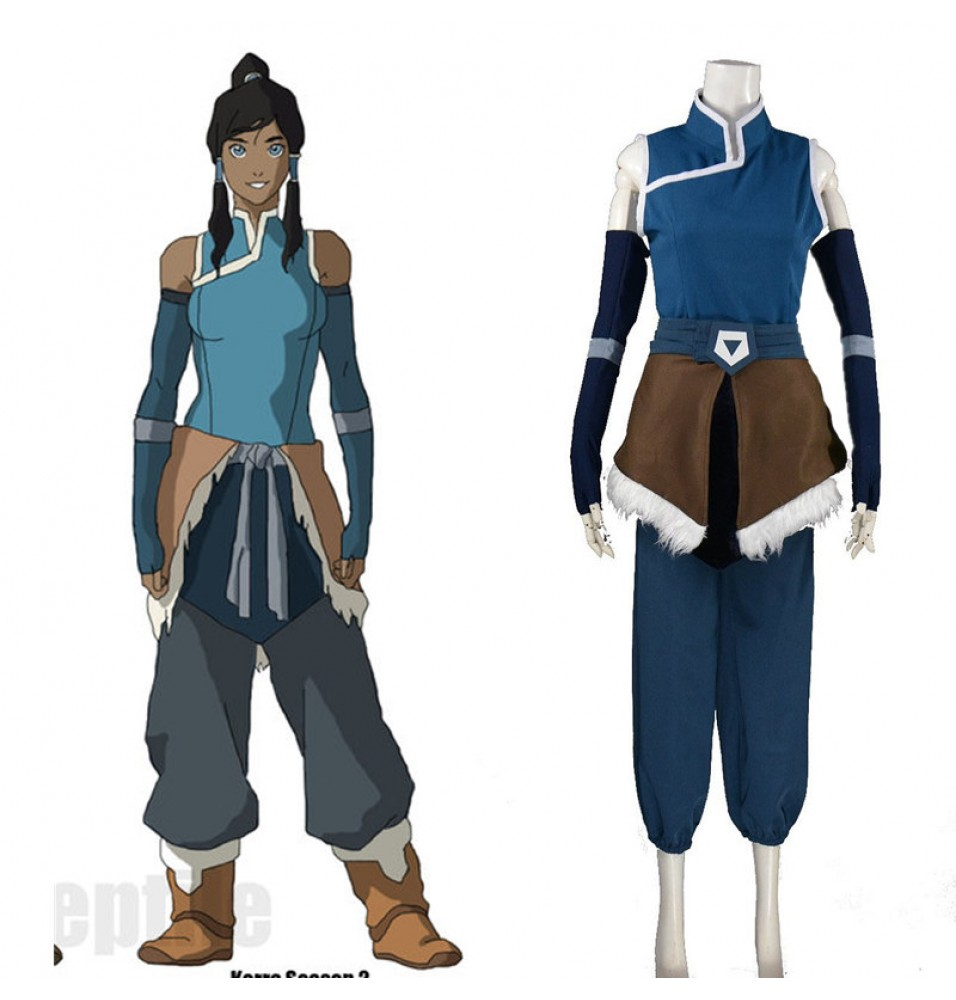 Timecosplay Avatar The Legend of Korra Cosplay Korra Season Costume